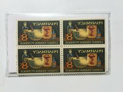 1972 Pharmacy Stamp Vintage Mint of 4 Stamps